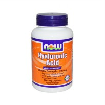 Now Foods Hyaluronic Acid Double Strength Suplemen [100mg/120 Vcaps]