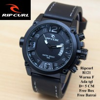 Jam Tangan Pria / Cowok Murah Ripcurl Diamond Black In White Color
