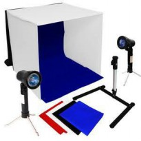MINI STUDIO LIGHT TENT BOX 40x40 BUAT FOTO PRODUK FULL SET free