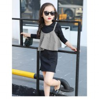 Cutevina-Girls Fashion Black Clothes 5-14th / 2pc set (TN17011)