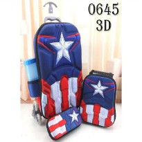 DJ fashion Tas Troli Anak 3D 4 in 1 - Captain