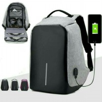 Tas anti maling ransel usb port charger laptop