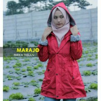 Jaket Parka Taslan Red Woman