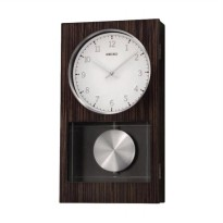 Seiko QXH046B Westminster Dual Chime Wall Clock Jam Dinding - Brown [45 cm]