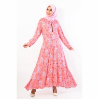 Jfashion New Gamis Corak Bunga Variasi Seleting - Flora