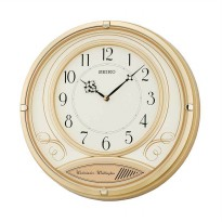 SEIKO QXD213G Dual Chime Analog Wall Clock - Gold [36 cm]