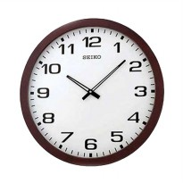SEIKO QXA413B Quiet Sweep Wall Clock Wooden Alder Jam Dinding - Brown [51 cm]