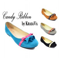 Candy Ribbon Flat Shoes by KrasaVa