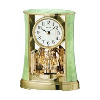 Seiko QXN229M Rotating Pendulum Desk Clock - Onyx Green