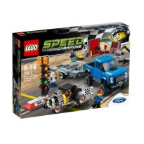 LEGO Speed Champions 75875 Ford F-150 Raptor & Ford Model A Hot Rod Mainan Blok & Puzzle
