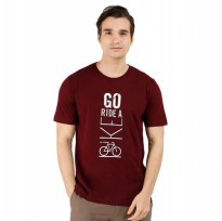 (POP UP AIA) SS Printed Men Tee - Go Ride A Bike Men Tee