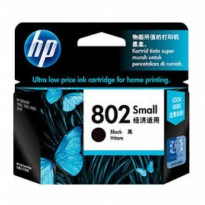 HP 802 Small Black Ink Cartridge Tinta Original (Kami Dealer Resmi)