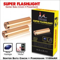 Powerbank Mitsuyama MS-129SB + Senter Batu Cincin SJ0041