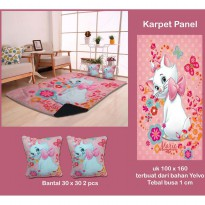Karpet Panel Kucing Pink
