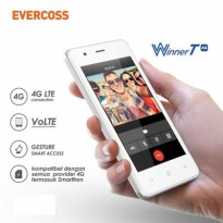 Smartphone Evercoss M40 Winner T 4G LTE LCD 4inch Lollipop Quadcore RAM 1GB Camera 5MP