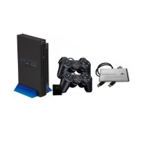 Sony Playstation 2 Fat Scph 10000-18000 Game Console - Hitam [40 GB/Full Games/Refurbished]