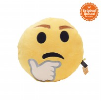 Bantal Boneka Emoji Thinking
