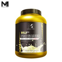 Muscle First Gold Pro Gainer 6 Lbs Honeydew Melon - lb bpom bubuk bulk bulking fitness gain gym halal M1 mass musclefirst Protein suplemen susu