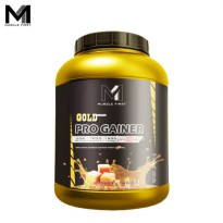 Muscle First Gold Pro Gainer 6 Lbs Caramel Fusion - lb bpom bubuk bulk bulking fitness gain gym halal M1 mass musclefirst Protein suplemen susu