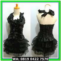 (Mini Dress) DRESS 03 BLACK