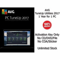 AVG TuneUp Utilities 2017 - 1 Year for 1 PC - Genuine
