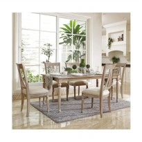 Artista Home Dior 6 Kursi Cozy Fit Dining Sets - Chocolate
