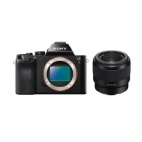 SONY A ILCE 7 Kamera Mirrorless with Lensa SEL 50mm f/1.8 Full Frame