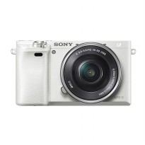 Sony Alpha 6000L Single Lens Putih Kamera Mirrorless