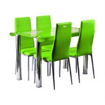 Best Furniture IMP-DSK08 Set Meja Makan Minimalis - Green [120 x 70 cm]