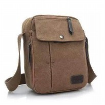 Tas Slempang Import Kanvas Militer / Slempang Messenger Shoulder Bag