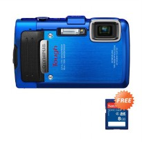 Olympus Stylus Tough TG-830 Biru Kamera Pocket + Memory Card 8 GB