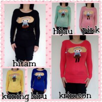 Baju Atasan Knit Girly Impor