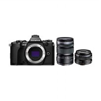 Olympus OM-D E-M5 Mark II Kit 14-150mm f/4.0-5.6 II + 17mm f/1.8 Kamera Mirrorless - Black
