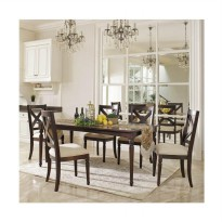 Artista Home Casanova 6 Kursi Cozy Fit Dining Sets - Latte