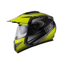 KYT Enduro BK-Light Yel-GM Helm Full Face