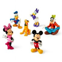 Action Figure Pajangan Mickey Minnie Mouse Miki Mini Tikus & Donald Daisy Duck Bebek & Goofy Guffi Pluto Walt Disney Cartoon