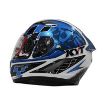 KYT Vendeta 2 GP Cruise Helm Full Face - White Blue
