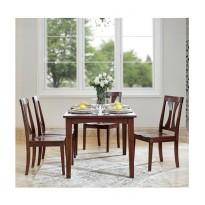 Artista Home Allora 8 Kursi Cozy Fit Dining Sets - Caramel