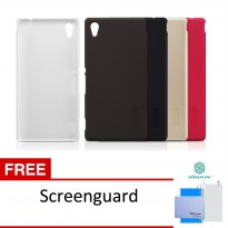 Nillkin Frosted Shield Hardcase Sony Xperia M4 Aqua Free Screen Guard 100% Original