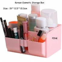 Korean Cosmetic Storage Box/Storage Box Office Desktop - PINK