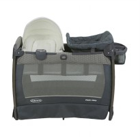 Graco 1965636 Pack n Play Playard Newborn Napper with Soothe Surround Sound Technology Oasis Tempat