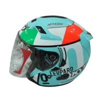 KYT Venom Open Andrea Locatelli Helm Half Face - Blue is Green
