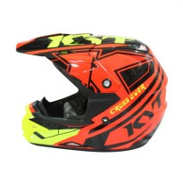 KYT Cross Over Krc Spr Fluo Edt Helm Full Face - Red Fluo Yellow Fluo