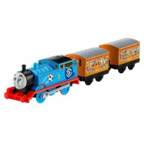 TF749 FISHER PRICE Thomas & Friends TrackMaster Blue Team Thomas + 2 Cargo