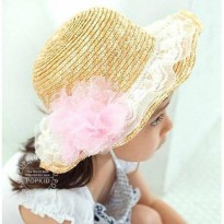~Cutevina~ Girl Fashion Hat/ Topi jerami cantik anak (CM2601)