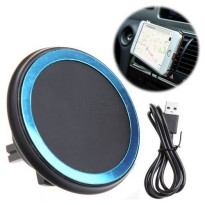 [globalbuy] Advanced WPC Qi Standard Wireless Car Charger Dock Holder Magnetic Air Vent Ad/5529247