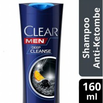 CLEAR Men Shampoo Anti Ketombe Deep Cleansing 160 ml