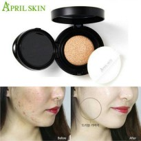 (Ready) April Skin Magic Snow Cushion Black