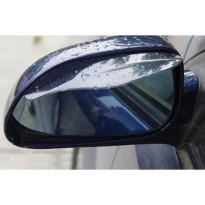 Flexible Plastic Car Rear view mirror Rain Shade Guard ( Per Pasang)