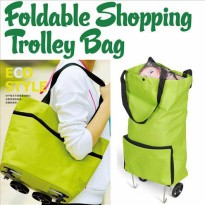 Foldable Trolley Shopping Bag | Tas Trolley Belanja Multifungsi